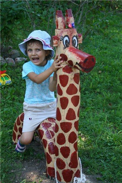 Жираф своими руками для сада 29